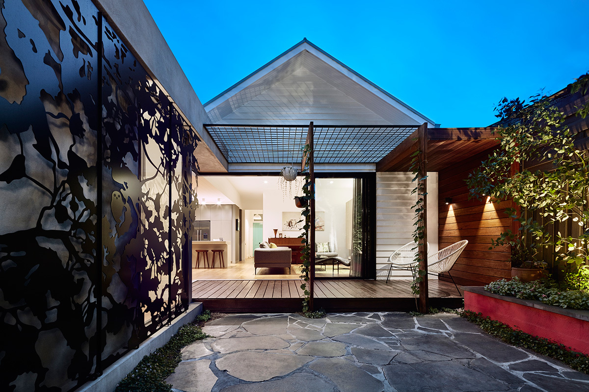 An unexpectedly colourful and playful addition to a for Cottage style homes melbourne