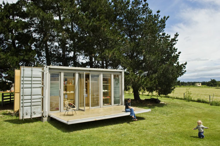 port a bach a portable teeny tiny shipping container home. Black Bedroom Furniture Sets. Home Design Ideas
