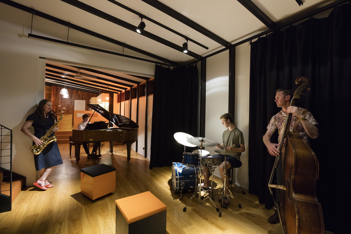 Rhythm House: A Home Designed for a Family of Musicians