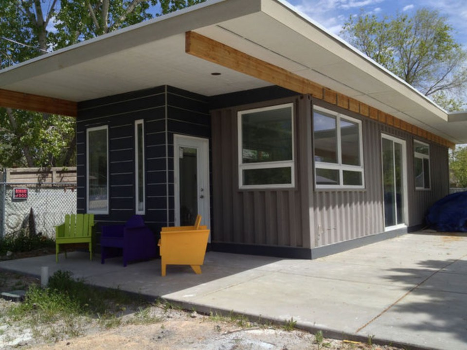 Looks are deceiving at this eco friendly shipping container house - Shipping container homes utah ...