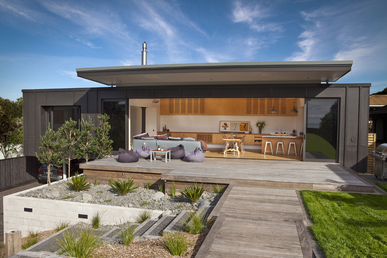 Screened By Pohutukawa House Is Designed For Laid-Back