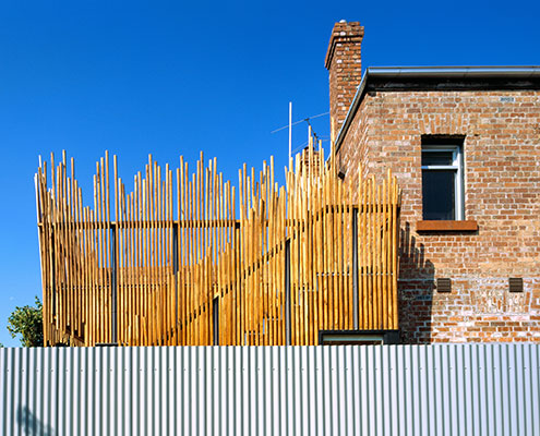 Stick House by PHOOEY Architects (via Lunchbox Architect)