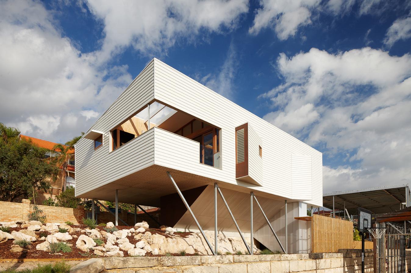 Suburban beach house what happens when you cross a for Small beach house designs australia