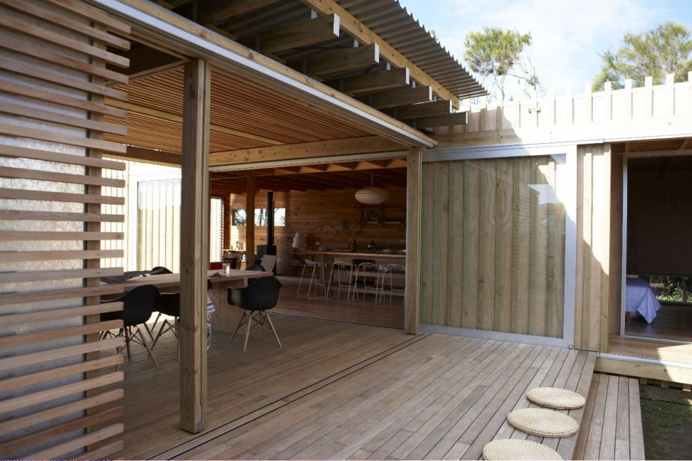 Price To Build Patio Cover Timms Bach A Simple But Stunning Beach Shelter In New Zealand