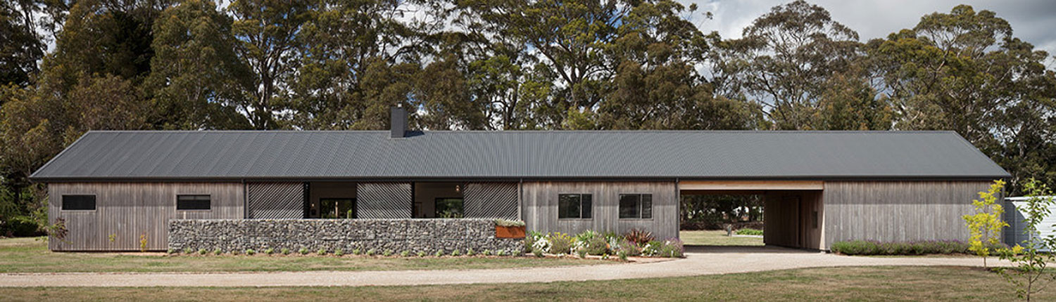 Trentham long house has old world charm in a modern package for Modern long house plans