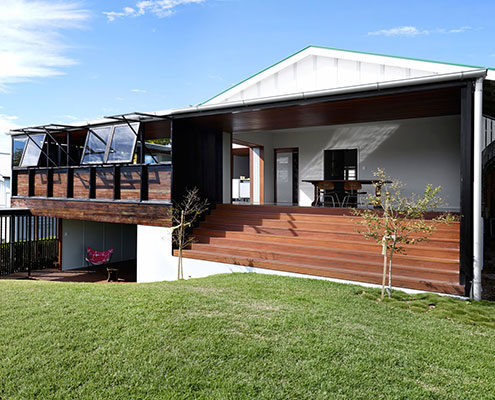 A weatherboard house extension perfectly suited to for Weatherboard house designs