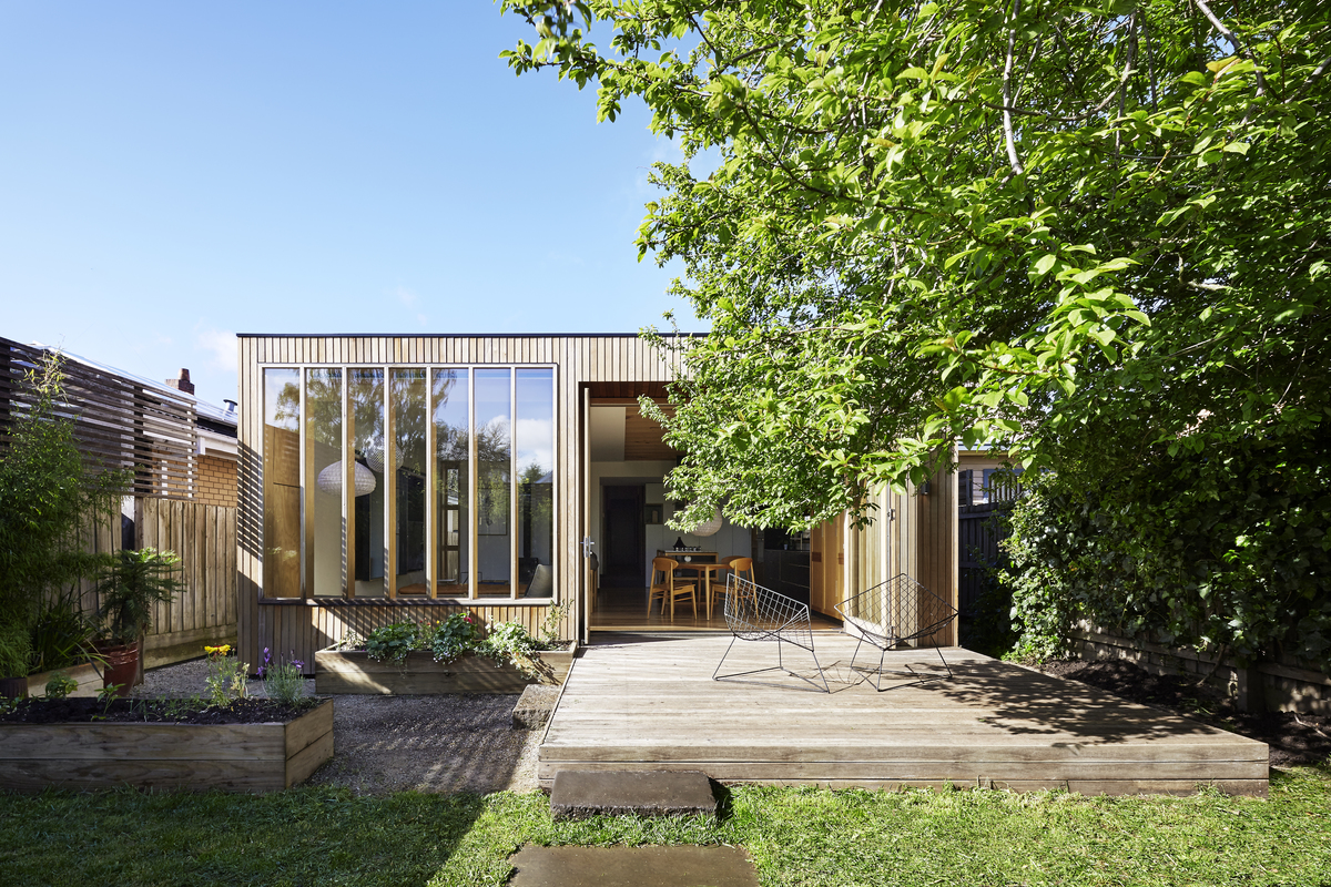 A Modern Wooden Box Extension Complements A Century Old Weatherboard