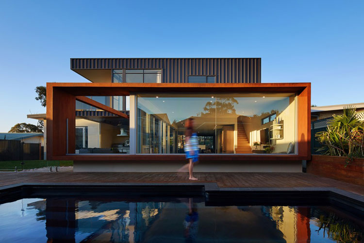 Xyz house extends on every axis to make a vibrant family home Better homes and gardens website australia